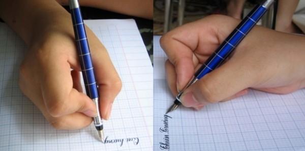 Cách cầm bút viết chữ đẹp