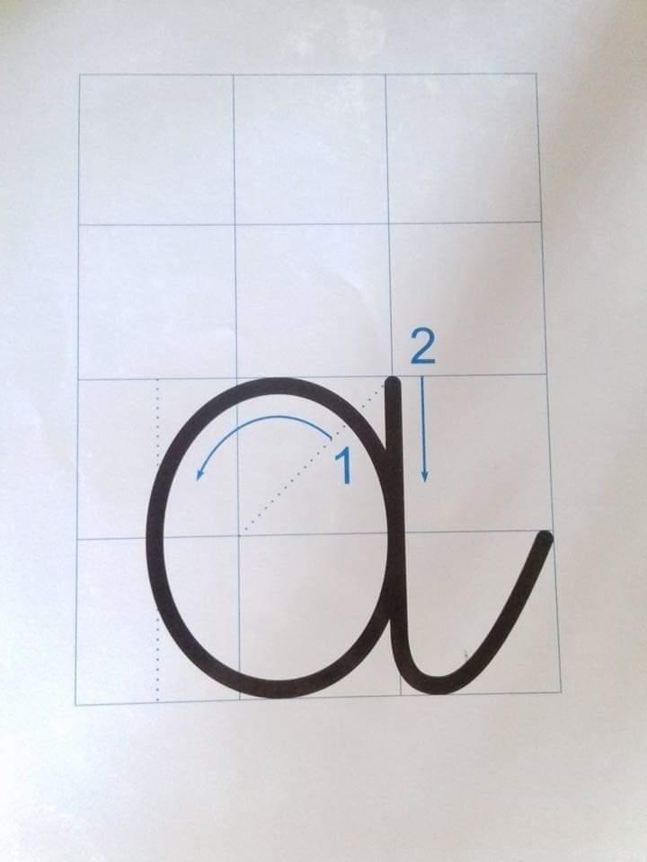 cách viết chữ a