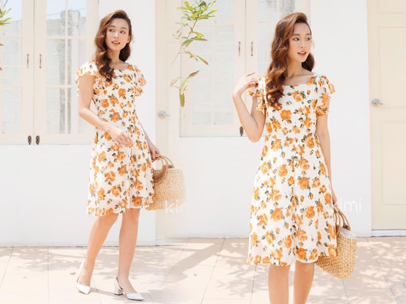 Váy đầm họa tiết hoa